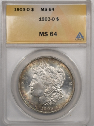 Morgan Dollars 1903-O MORGAN DOLLAR ANACS MS-64, PRETTY!