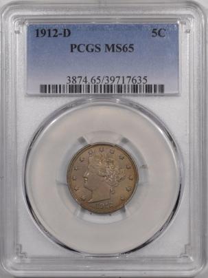 Liberty Nickels 1912-D LIBERTY NICKEL – PCGS MS-65
