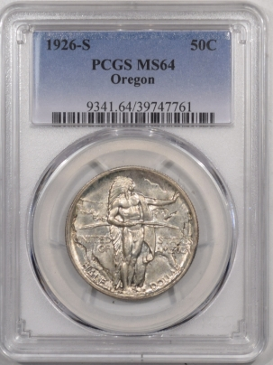 New Certified Coins 1926-S OREGON COMMEMORATIVE HALF DOLLAR – PCGS MS-64