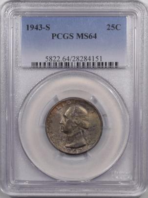 New Certified Coins 1943-S WASHINGTON QUARTER – PCGS MS-64 PRETTY!