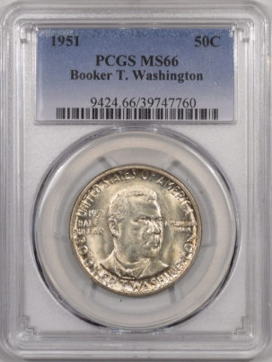 New Certified Coins 1951 BTW COMMEMORATIVE HALF DOLLAR – PCGS MS-66