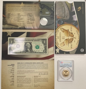 Modern Commems 2016-S $1 AMERICAN COIN & CURRENCY SET – PCGS SP-69 COIN