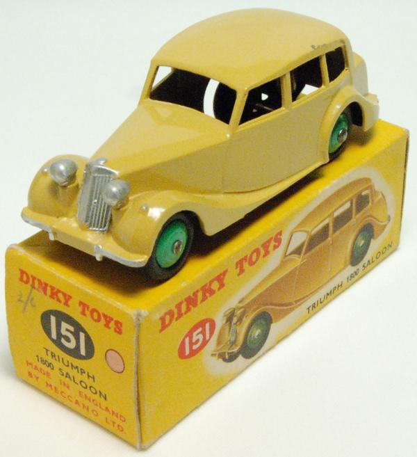 Repro Box Dinky Nr.151 TRiumph 1800 Saloon