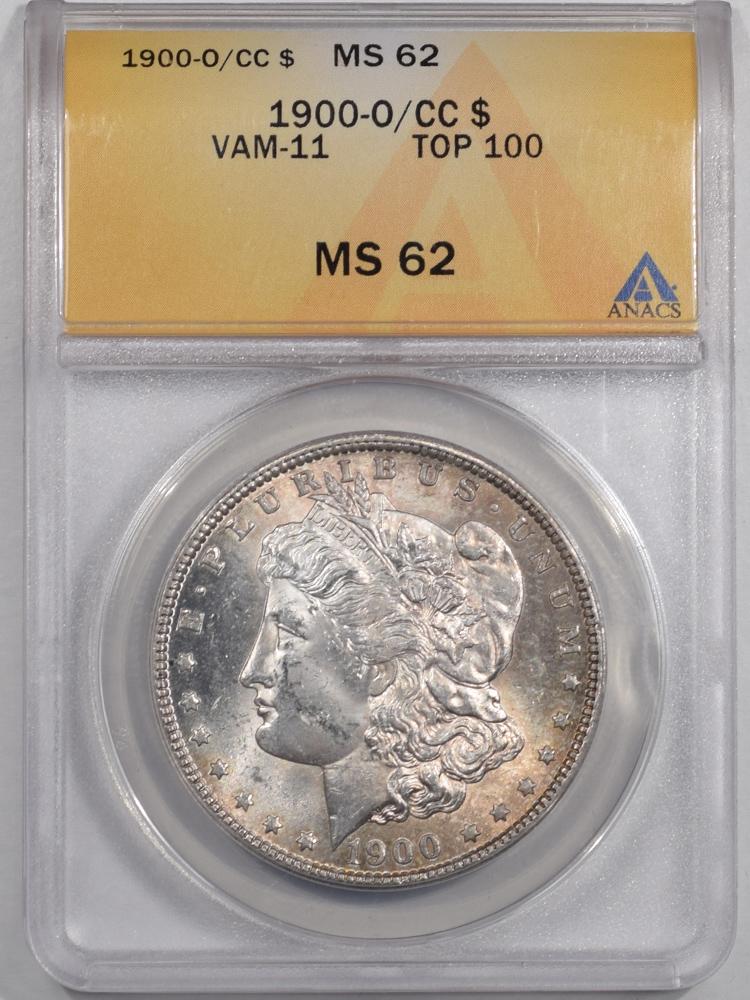1900-O/CC MORGAN DOLLAR VAM-11 TOP 100 ANACS MS-62