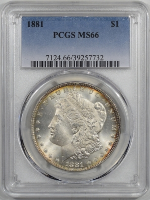 Morgan Dollars 1881 MORGAN DOLLAR PCGS MS-66
