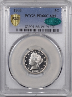 CAC Approved Coins 1903 PROOF LIBERTY NICKEL PCGS PR-66 CAM HEADLIGHT PREMIUM QUALITY CAC APPROVED!