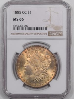 Dollars 1885-CC MORGAN DOLLAR NGC MS-66, PRETTY & SUPERB GEM