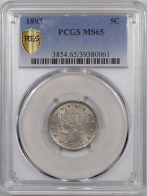Liberty Nickels 1893 LIBERTY NICKEL PCGS MS-65 PREMIUM QUALITY!