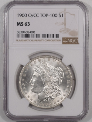 Morgan Dollars 1900-O/CC MORGAN DOLLAR TOP 100 – NGC MS-63 BLAST WHITE!