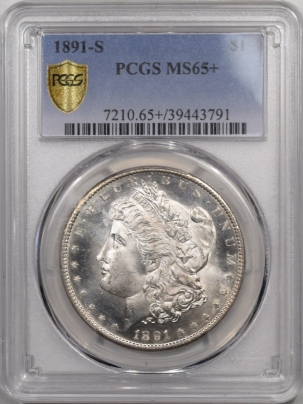 Morgan Dollars 1891-S MORGAN DOLLAR – PCGS MS-65+ PL OBVERSE