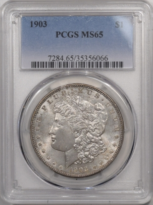 Morgan Dollars 1903 MORGAN DOLLAR – PCGS MS-65 ORIGINAL TONED GEM!