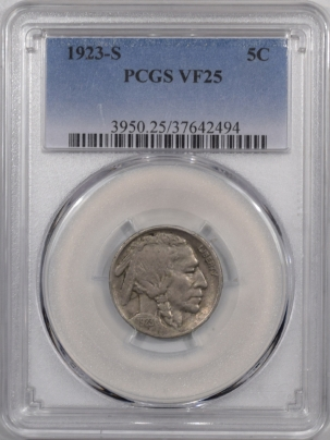 Buffalo Nickels 1923-S BUFFALO NICKEL – PCGS VF-25
