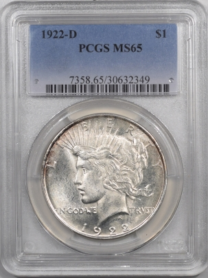 New Certified Coins 1922-D PEACE DOLLAR – PCGS MS-65 BLAST WHITE!