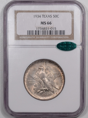 CAC Approved Coins 1934 TEXAS COMMEMORATIVE HALF DOLLAR – NGC MS-66 PRETTY & PREMIUM QUALITY! CAC!