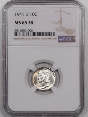 Mercury Dimes 1941-D MERCURY DIME – NGC MS-65 FB