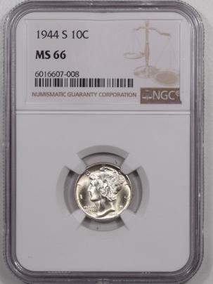 Mercury Dimes 1944-S MERCURY DIME – NGC MS-66