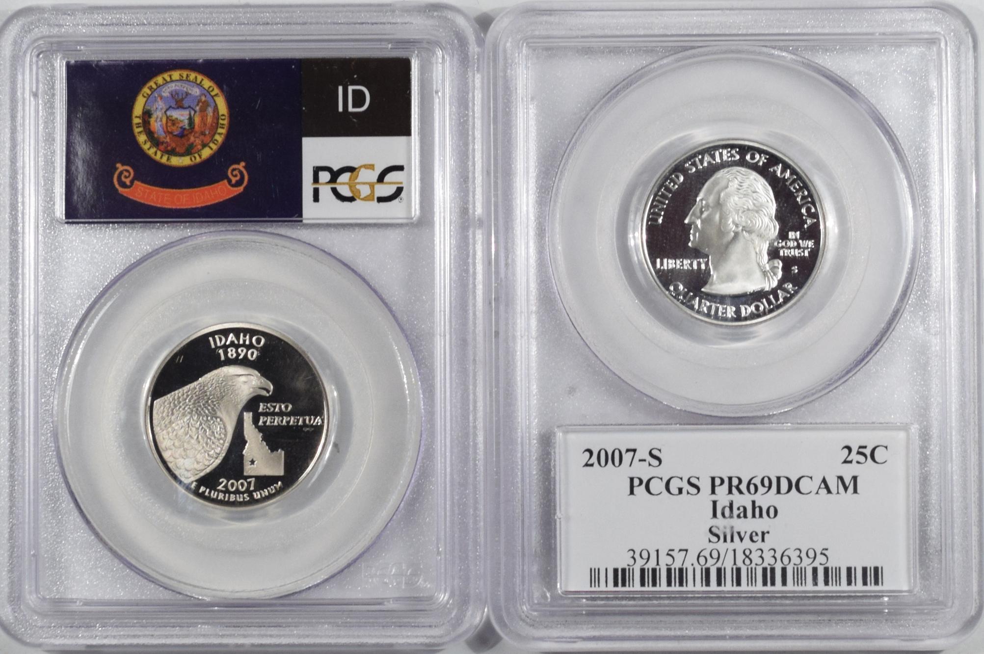 2007-S Idaho Clad  Proof State Quarter PCGS PR69DCAM